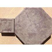 Формы для тротуарной плитки «Восьмигранник Циновка» глянцевые пластиковые АБС ABS фото