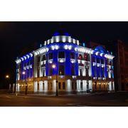 Освещение объектов подствека зданый и офисов архитектурное и дизайнерское освещение фото