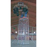 Лестницы-трапы Krause Переход из алюминия угол наклона 45° количество ступеней 7,ширина ступеней 800 мм 826268 фото