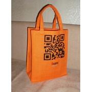 Джутовые сумки цветные и натуральные с ламинацией фото