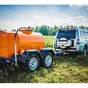 Прицеп-цистерна для перевозки дизельного топлива 950 литров фото