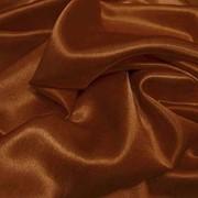 Атлас однотонный тонкий цвет золотисто-коричневый (А 15/200) фото