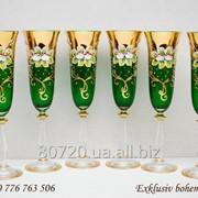 Фужеры для шампанского.Богемский хрусталь. фото