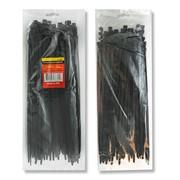 Хомут пластиковый 3,6x300мм, (100 шт/упак), черный INTERTOOL TC-3631 фото