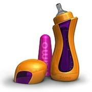 Бутылочки для младенцев. Самонагревющаяся бутылочка iiamo go) бутылочка оранжево-пурпурная. фото