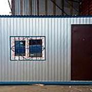 Строительный домик-бытовка фото