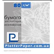 Бумага инженерная для плоттеров 80г/м 594мм (23.4″) х 175м фото
