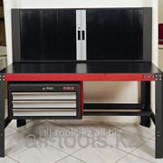 Слесарный верстак с ящиками и запираемым шкафом 141кг /148кг /20&#39- Код: 50254 фото