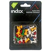Кнопки силовые, 23 мм, 30 шт., в блистере, (INDEX) фото