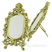 Зеркало настольное на подставке 23*12*7см латунь Alberti Livio фото