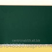 Доска аудиторная, одинарная, магнитная зеленая, под мел с лотком 1200х900 мм., 0720 фото