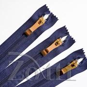 Молния пластиковая, синяя, бегунок №73 - 30 см фото