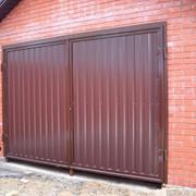 Ворота гаражные (металлические) фото