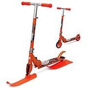 Самокат с лыжами и колесами Small Rider Combo Runner 145 оранжевый фото