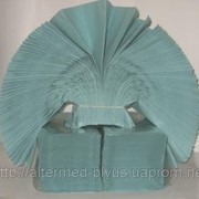 Полотенца листовые (230мм х 230мм), 200 лист./уп, зеленые (макулатура) фото