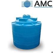 Бак пластиковый 5000 литров вертикальный цилиндрический с крышкой фотография