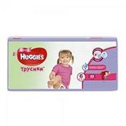 Трусики для девочек Huggies 6 16-22кг 44шт фото
