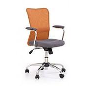 Кресло компьютерное Halmar ANDY (серо-оранжевый) фото