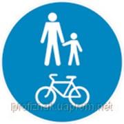 Дорожные знаки Предписывающие знаки Дорожка для пешеходов и велосипедистов 4.14 фото