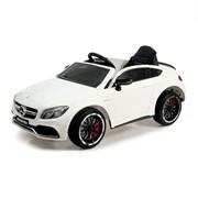 Электромобиль MERCEDES-BENZ C63 S AMG, цвет белый, EVA колеса фото