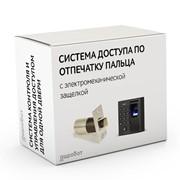 Комплект 95 - СКУД с доступом по отпечатку пальца, карте и коду с электромеханическим врезным замком защелкой для установки в помещении фото