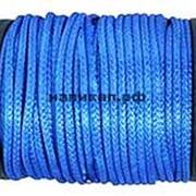 Синтетический трос D - 5 мм ( синий, нагрузка - 2500 кгс.) Цена за метр троса. фото