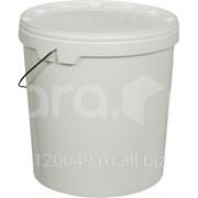 Ведро пластиковое 20 литров круглое с металлической ручкой с крышкой Арт.ВП 20 н фото