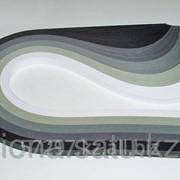 Бумага набор №24 130гр., 300мм., 150 полос, 5 цветов черно-серый микс фото