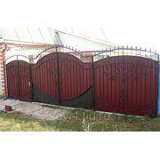 Ворота кованые №12 фото