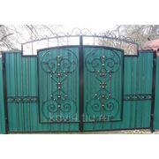 Ворота кованые №8 фото