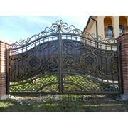 Ворота кованые №5 фото
