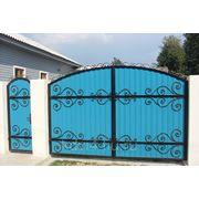 Ворота кованые №10 фото