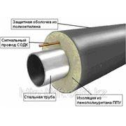 Труба стальная с тепловой изоляцией из пенополиуретана ППУ фото