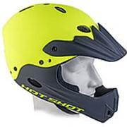 Шлем Freeride/DH FullFace ABS-HARD SHELL суперпрочный Hot Shot INMOLD 17отв. неоново-желтый 54-58см AUTHOR фото
