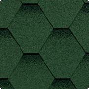 Битумная черепица SHINGLAS (Шинглас) КЛАССИК КАДРИЛЬ Зелёный фото