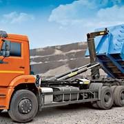 Вывоз строительного мусора мультилифтом 27 м/куб.  фото