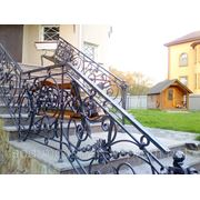 Изготовление кованых перил для лестниц фото