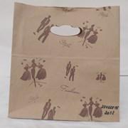 пакет крафт с квадратным дном и вырезанной ручкой фото