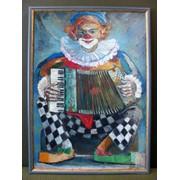 Картина Клоун с гормошкой фото