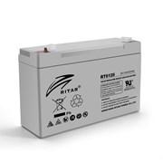 Аккумуляторная батарея AGM RITAR RT6120A, Gray Case, 6V 12Ah ( 150 х 50 х 93 (99) ) Q10 фото