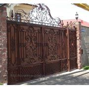 Кованные ворота фото