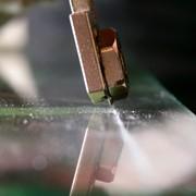 Прямая прирезка стекла фото