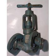 Вентиль клапан запорный проходной фланцевый 15нж65п34 Ду15 Ду20 Ду25 Ру16 фото
