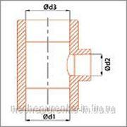 Тройник полипропиленовый переходной Ф 50х32 цвет серый. фото