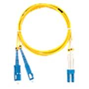 NMF-PC2S2C2-SCU-LCU-005 Шнур волоконно-оптический, переходной, одномодовый 9/125мкм, OS2, SC/UPC-LC/UPC, двойной, LSZH нг(A)-HFLTx, 2мм, желтый, 5м фото