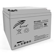 Аккумуляторная батарея AGM RITAR RT12280, Gray Case, 12V 28Ah ( 166 х178 х125 ) Q1 фото