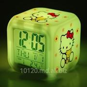 Светодиодные часы Hello Kitty фото