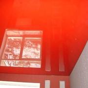 Потолок оранжевый натяжной фото