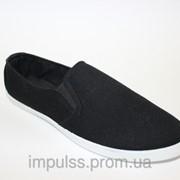 Мокасины мужские черные, размеры 41-45 фото