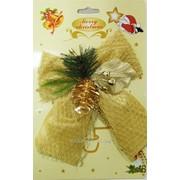 Бант текстильный рождественский GIF1697 фото